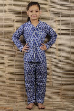 Floral Block Printed Night Wear - SH-HBPNS-G-023