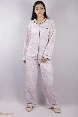 Booti Block Printed Night Suit - SH-HBPNS-W-021