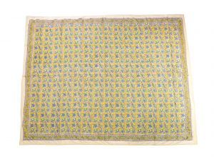 Floral Hand Block Print Cotton Baby Quilt Dohar - SHJ-HBP-BQDH-084