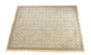 Floral Hand Block Print Cotton Baby Quilt Dohar - SHJ-HBP-BQDH-085