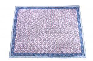 Floral Hand Block Print Cotton Baby Quilt Dohar - SHJ-HBP-BQDH-086