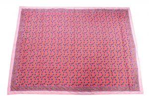 Floral Hand Block Print Cotton Baby Quilt Dohar - SHJ-HBP-BQDH-088
