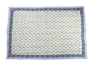 Floral Hand Block Print Cotton Baby Quilt Dohar - SHJ-HBP-BQDH-091