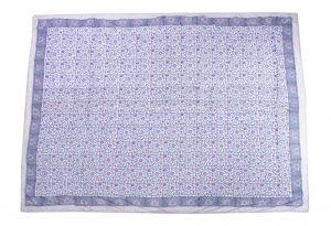 Red Violet Floral Block Print Dohar - SHJ-HBP-BQDH-094