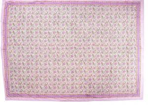 Floral Block Print Dohar - SHJ-HBP-BQDH-100