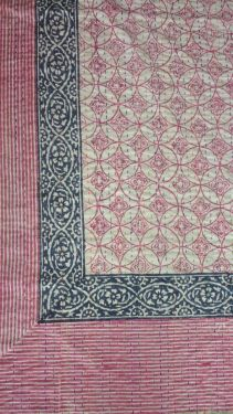 Abstract Block Printed Kantha Cotton Quilt - SHJ-HBKQ-013