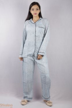 Booti Block Printed Night Suit - SH-HBPNS-W-006