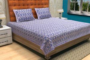 Hand Block Printed Bed Sheet - SHJ-HBP-BCVR-004