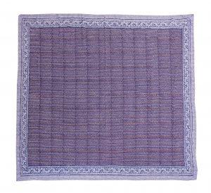 Indigo Blue Geometrical Block Printed Kantha Quilt - SHJ-HBP-KQ-028