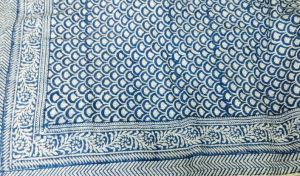 Abstract Geometrical Block Printed Kantha Cotton Quilt - SHJ-HBKQ-015