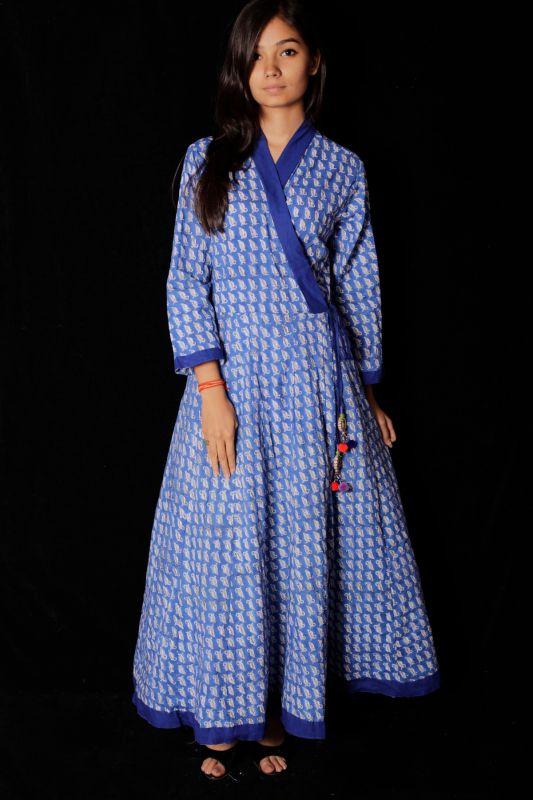 Hand Block Printed Dress - SH-HBPD-W-110
