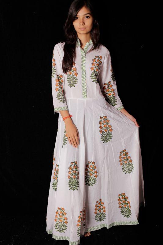 Hand Block Printed Dress - SH-HBPD-W-118