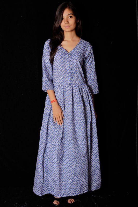 Hand Block Printed Dress - SH-HBPD-W-123
