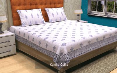Block Print Kantha Quilt