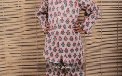 Block Print Girls Night Suit